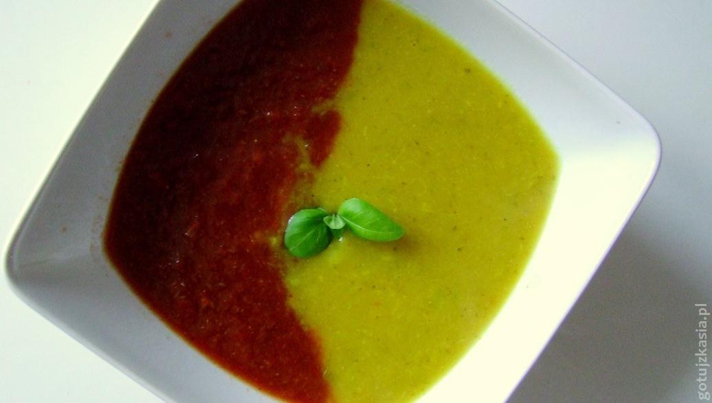 dwukolorowa zupa