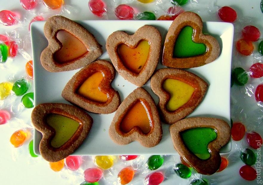 witrażykowe ciastka