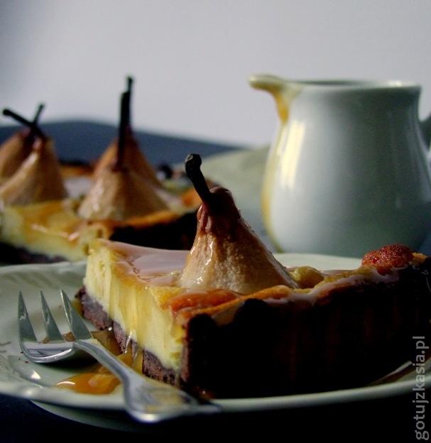 czekoladowa tarta z gruszkami 3