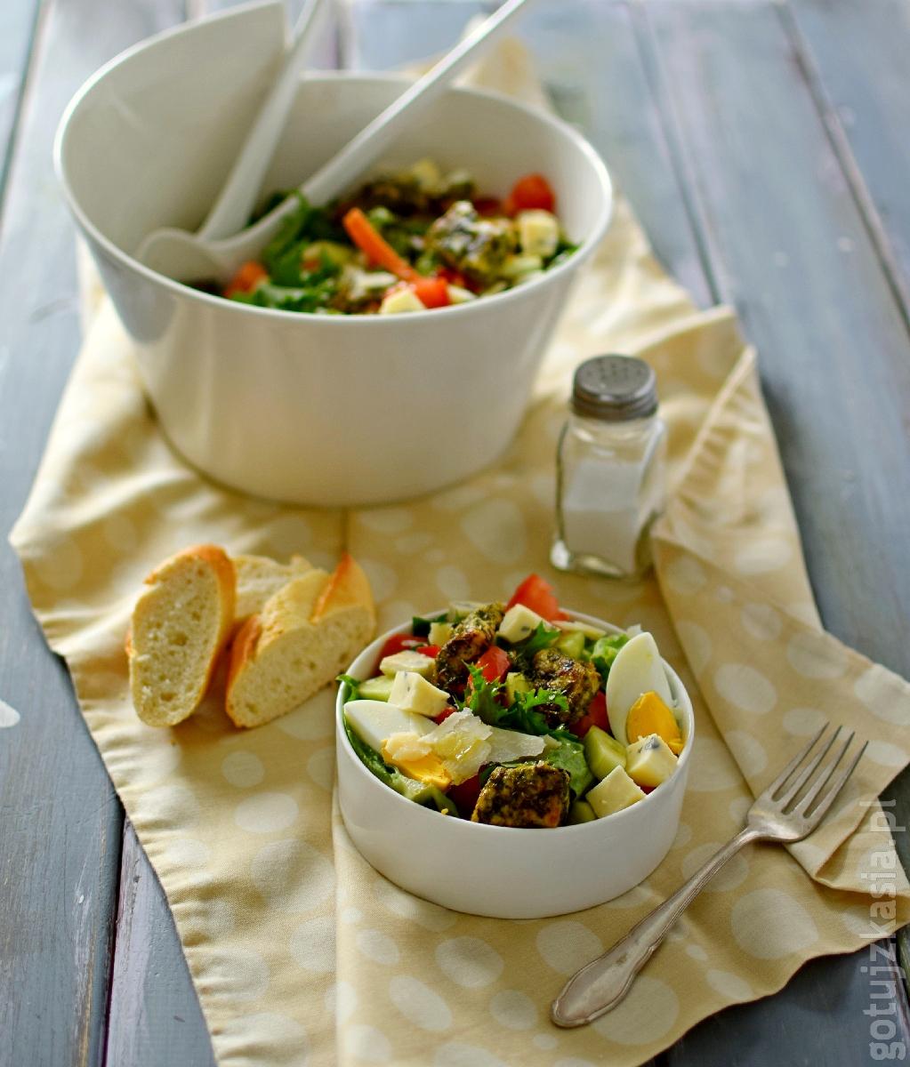 salatka z ziolowym indykiem 2