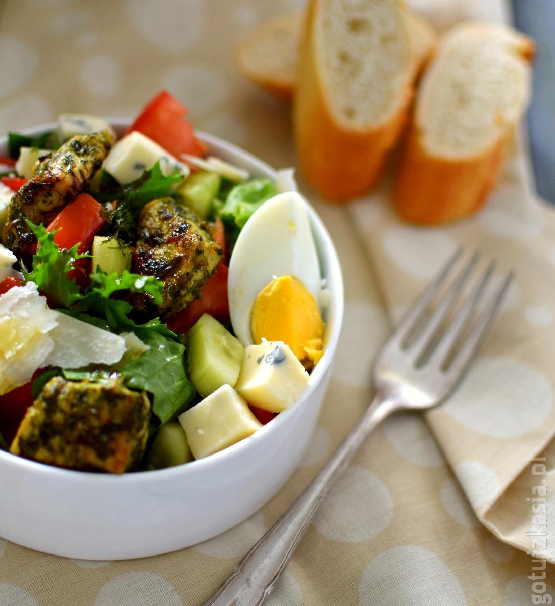 salatka z ziolowym indykiem 3