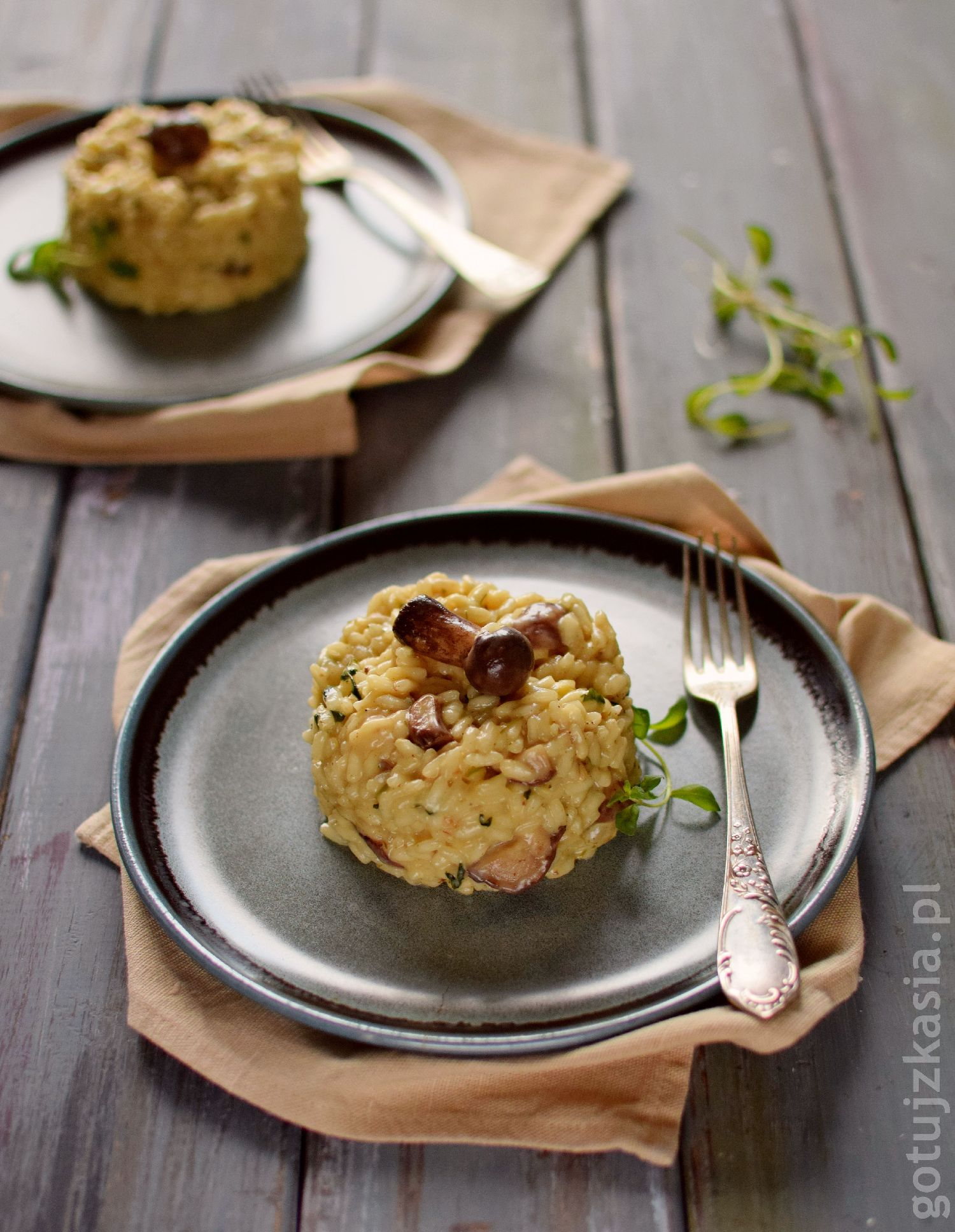 risotto z grzybami 3