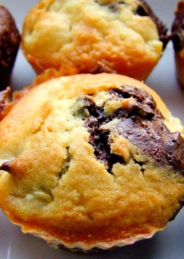 brzoskwiniowo-czekolodowe muffinki
