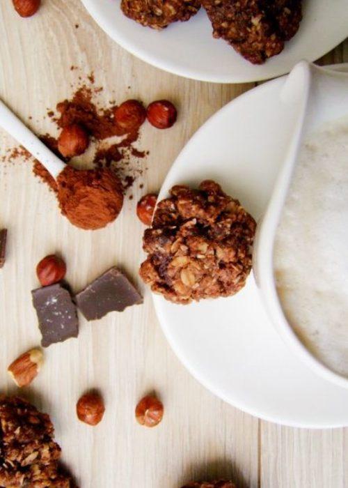 podwojnie czekoladowe owsiane ciasteczka