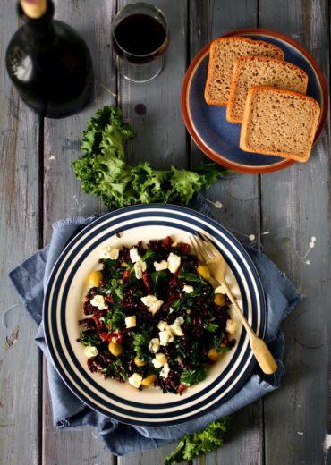 salatka z jarmuzem