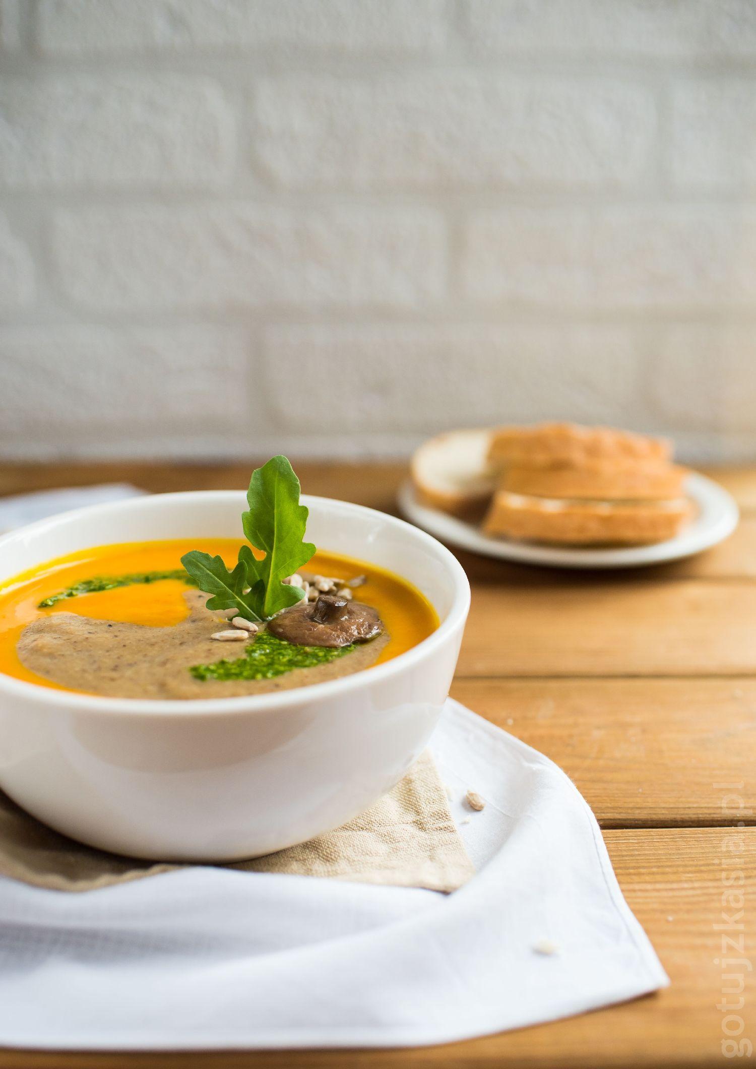 zupa dyniowo-grzybowa 3