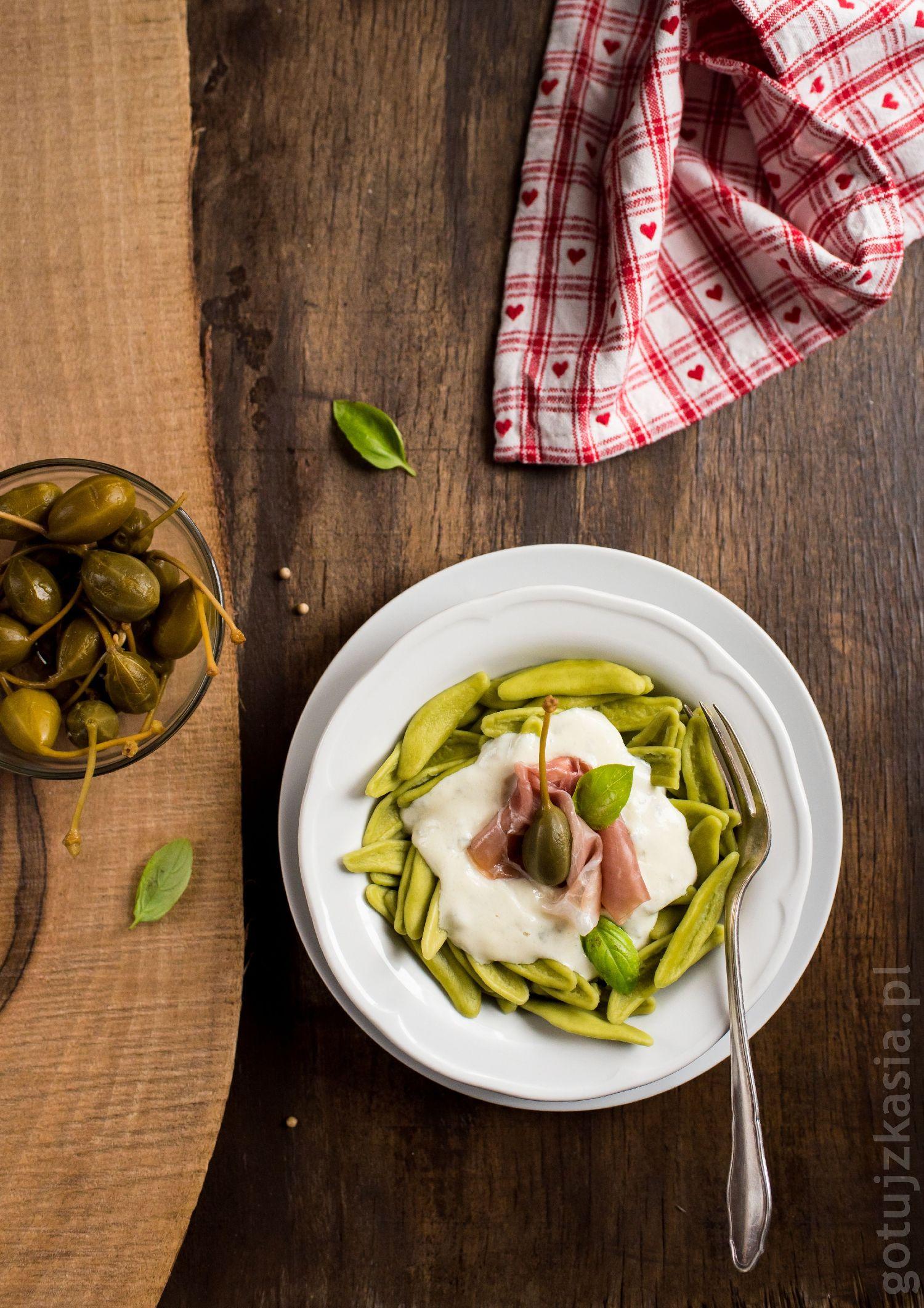 makaron z sosem gorgonzola 1