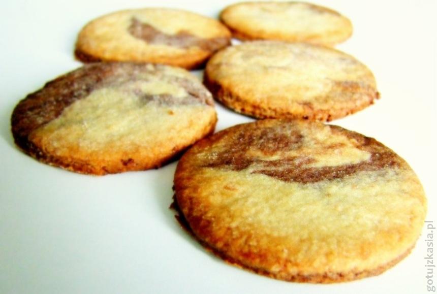 dwukolorowe kruche ciasteczka 2
