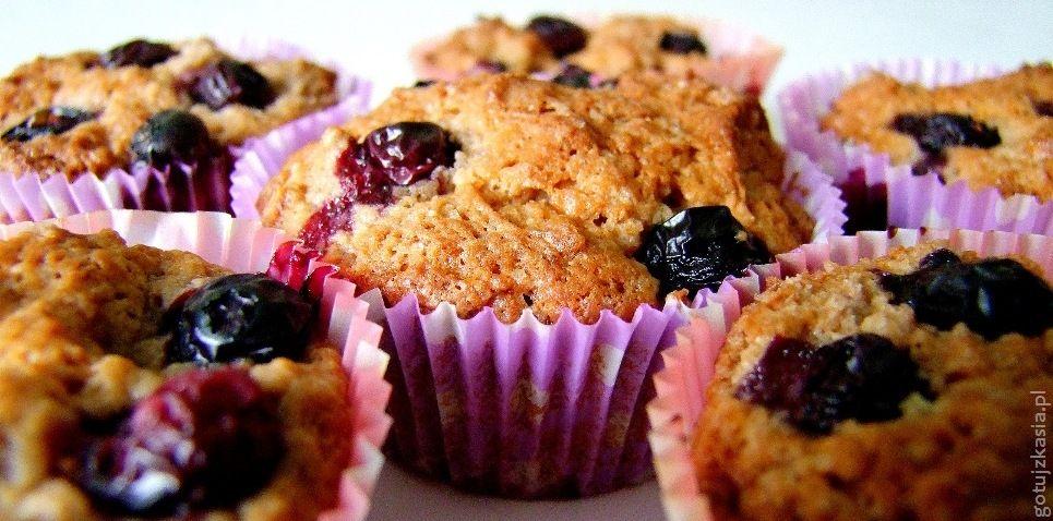 muffinki z borowkami amerykanskimi 2