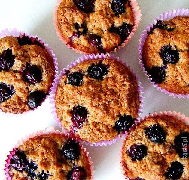 muffinki z borowkami amerykanskimi