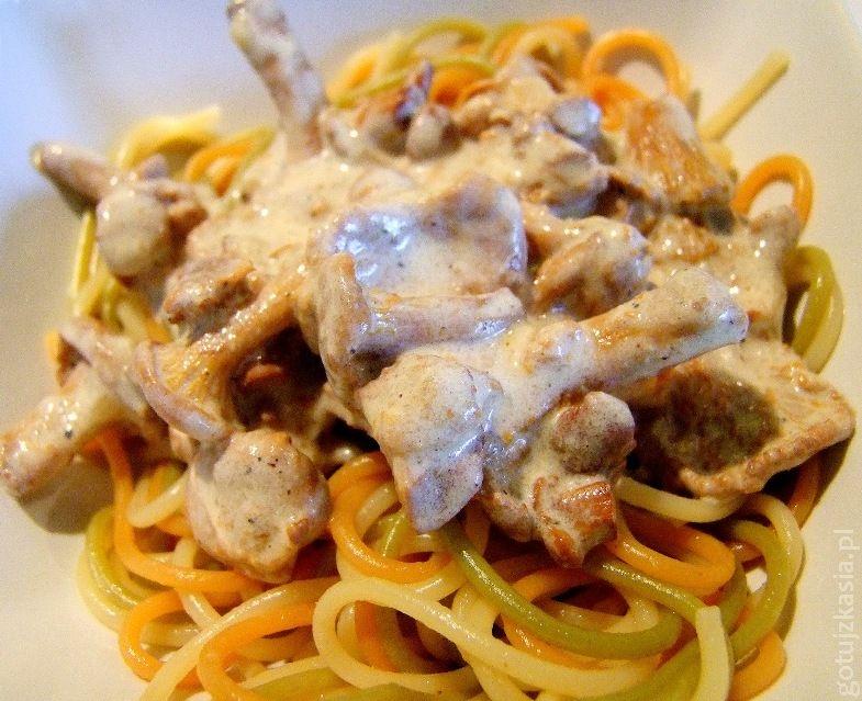 spaghetti z sosem kurkowym 2