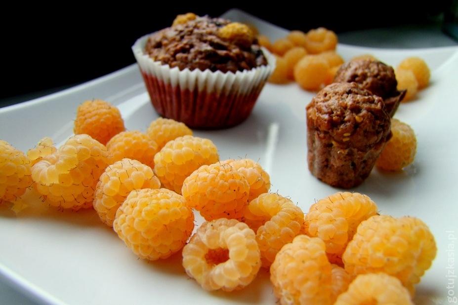 muffiny z zoltymi malinami