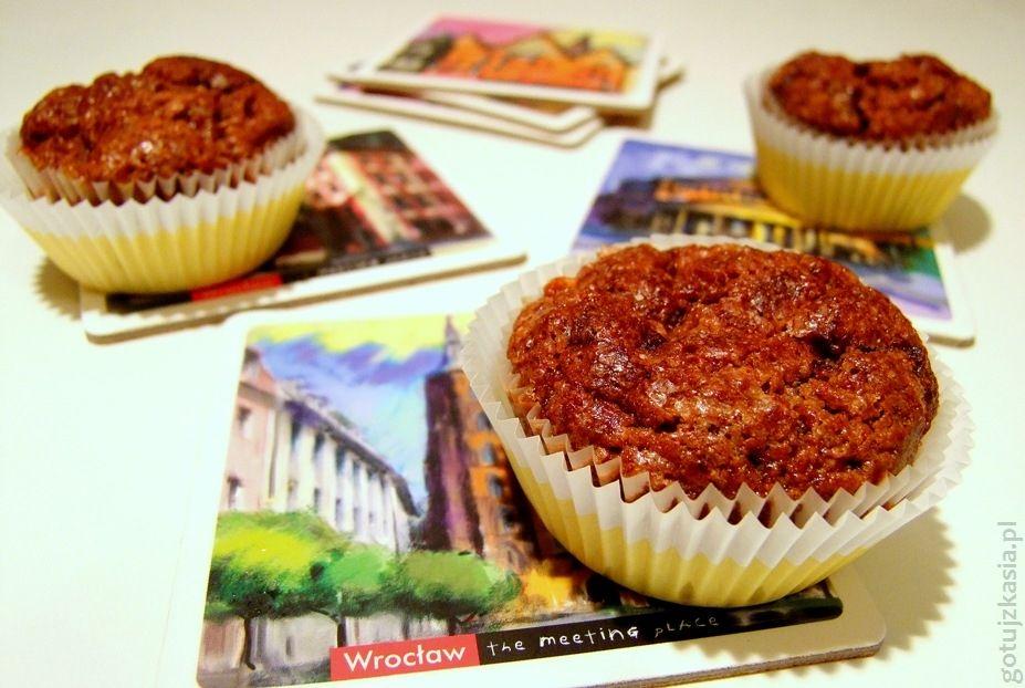 kakaowe muffinki z owocem kaki