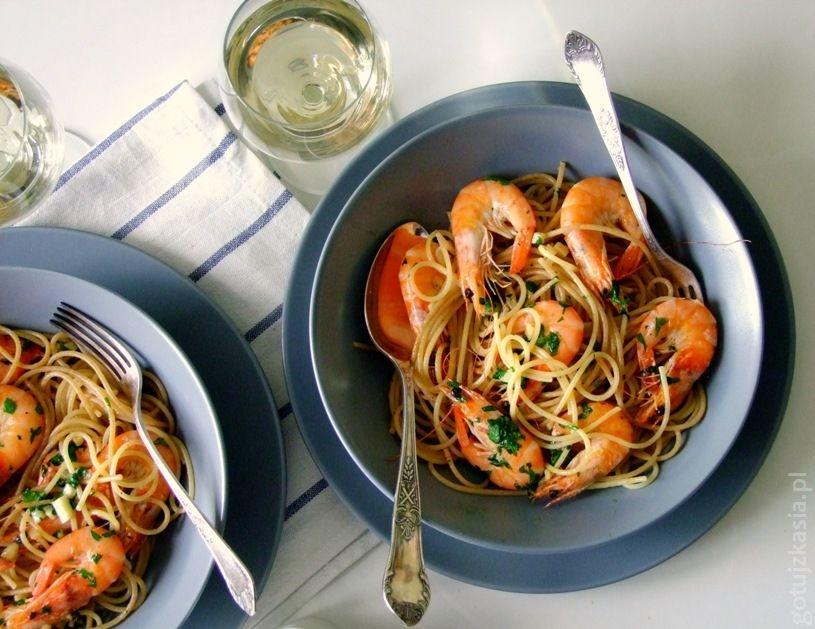 spaghetti z krewetkami 1