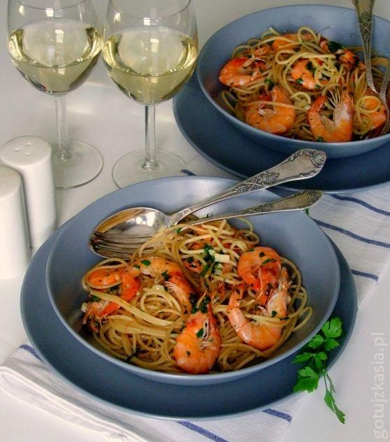 spaghetti z krewetkami 4