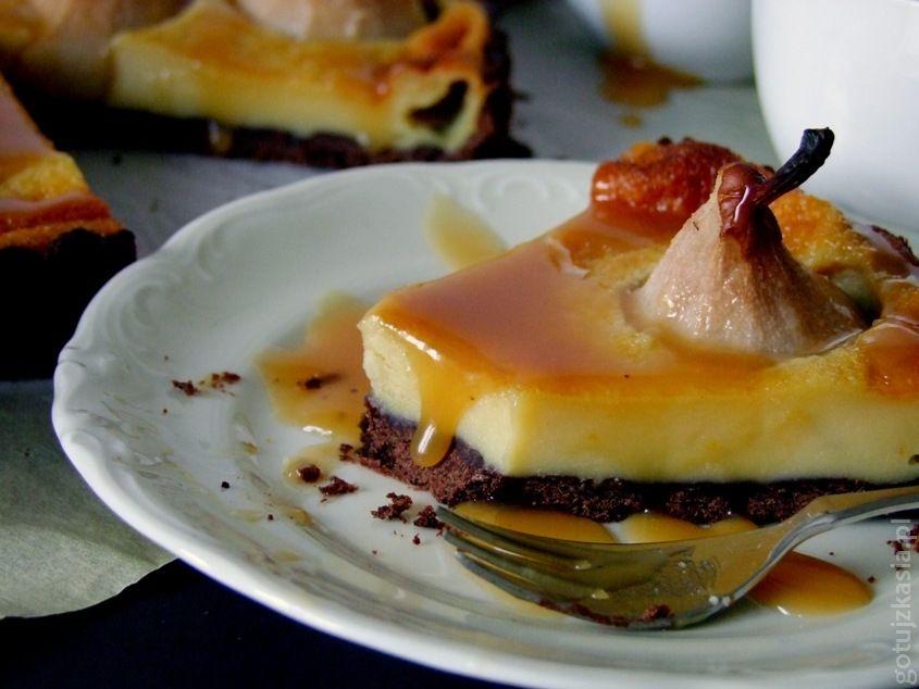 czekoladowa tarta z gruszkami 6