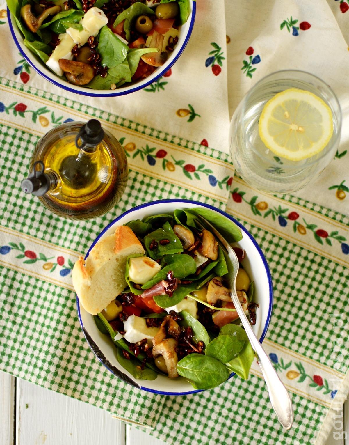 salatka ze szpinakiem 1