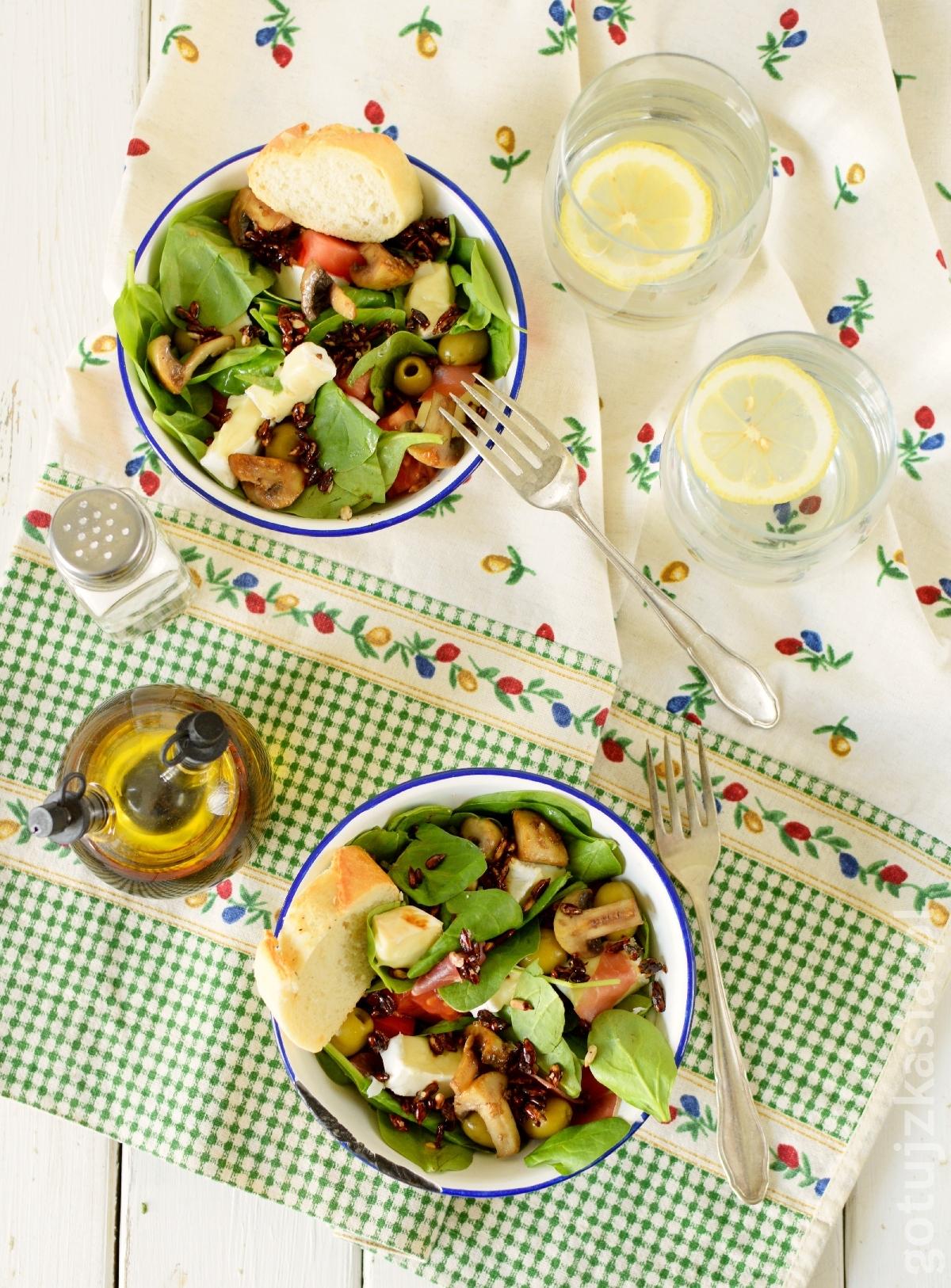 salatka ze szpinakiem 2