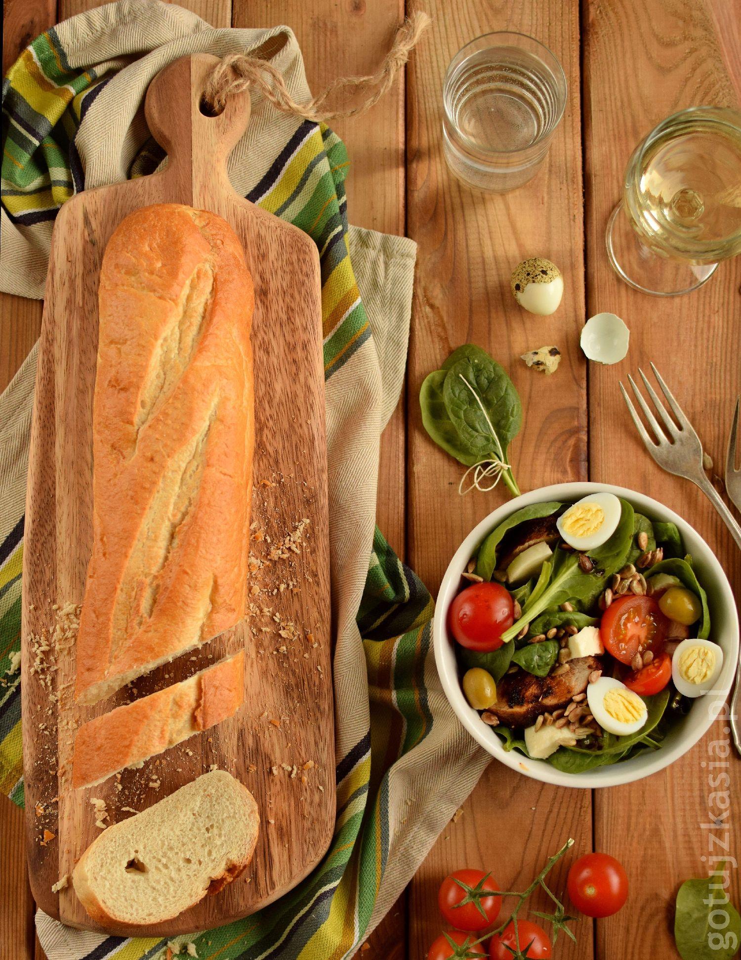 salatka z indykiem i szpinakiem 2