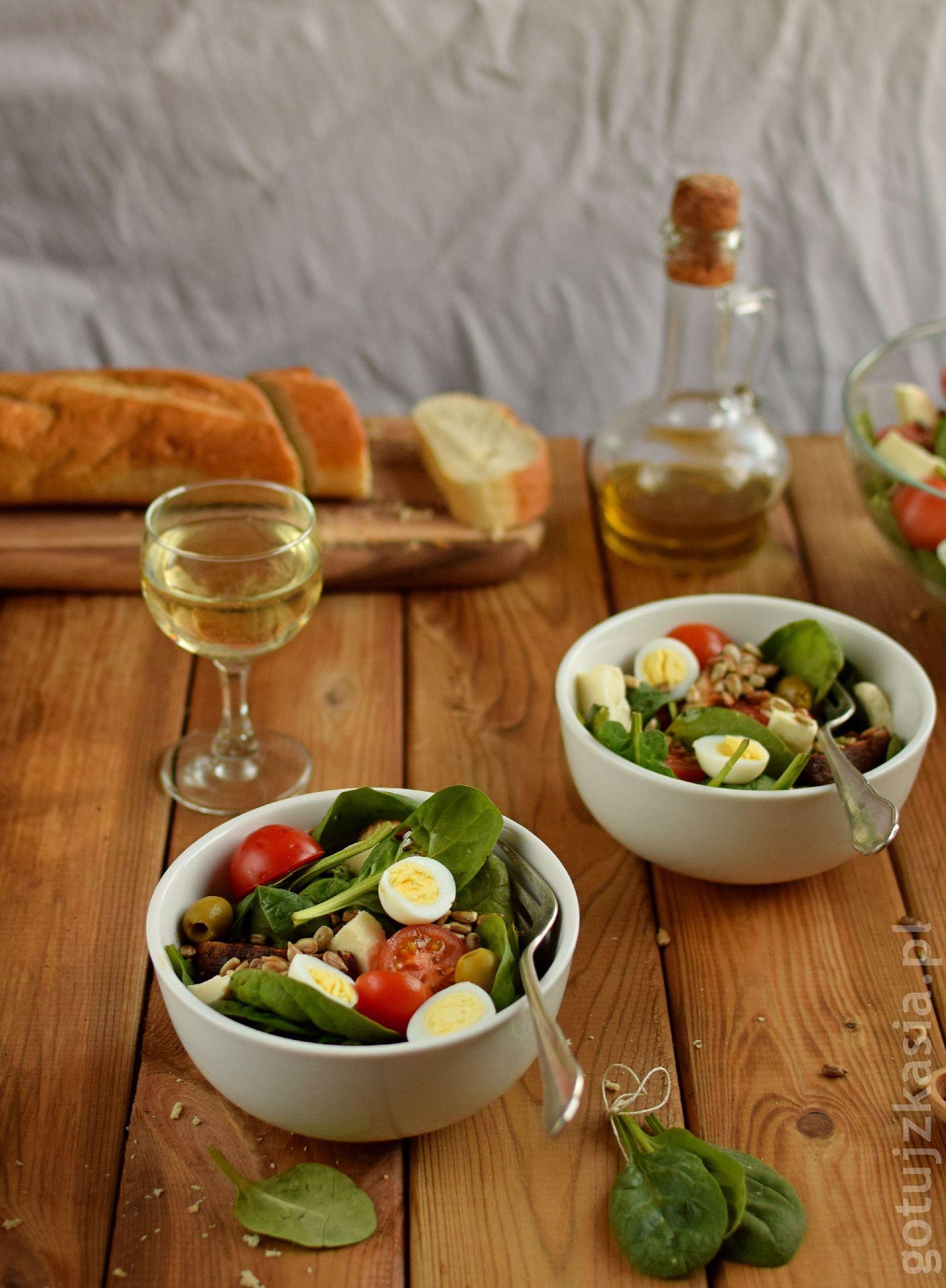 salatka z indykiem i szpinakiem 3