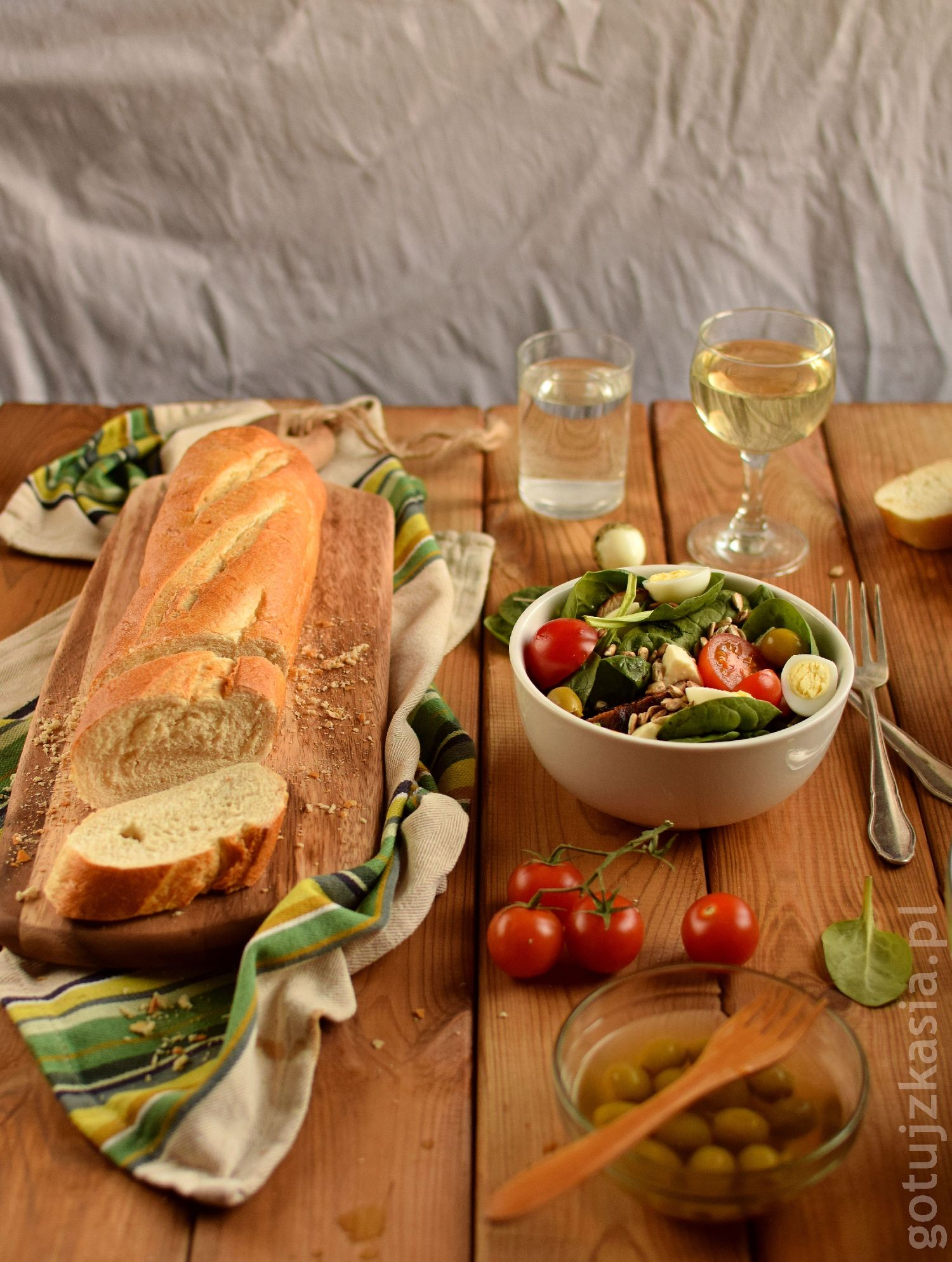 salatka z indykiem i szpinakiem 7