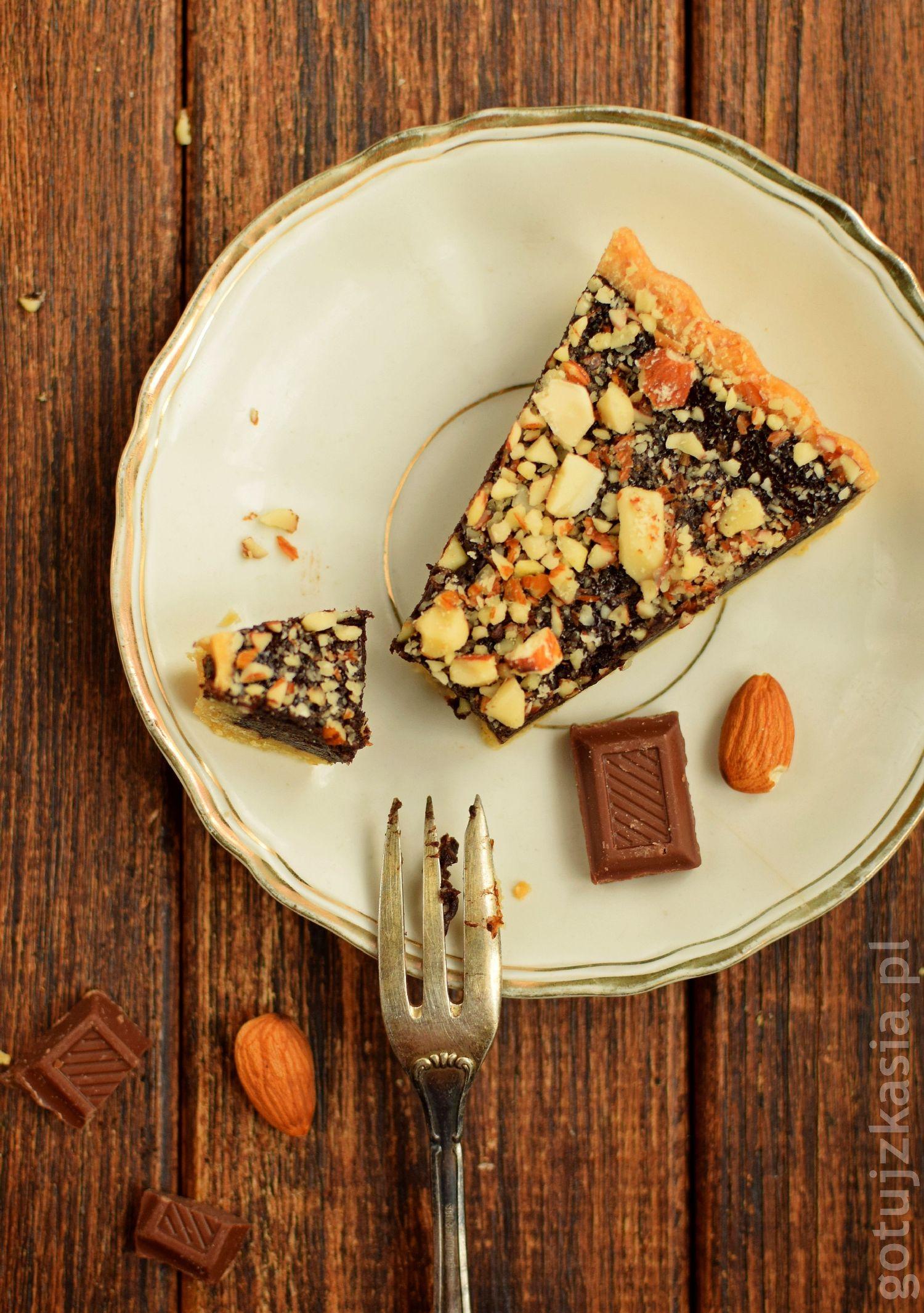 tarta z czekolada i migdalami 6