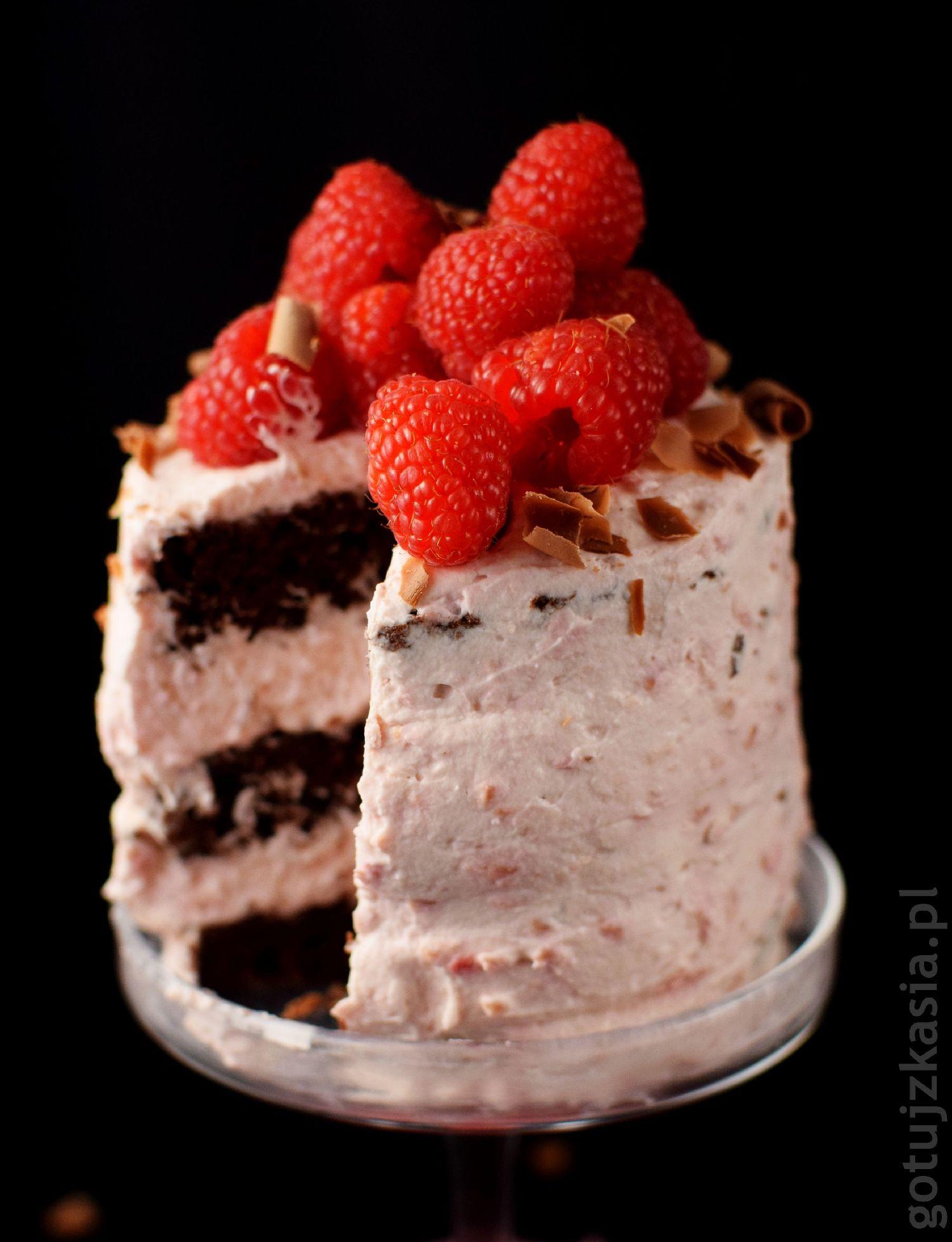 torcik czekoladowo-malinowy 6