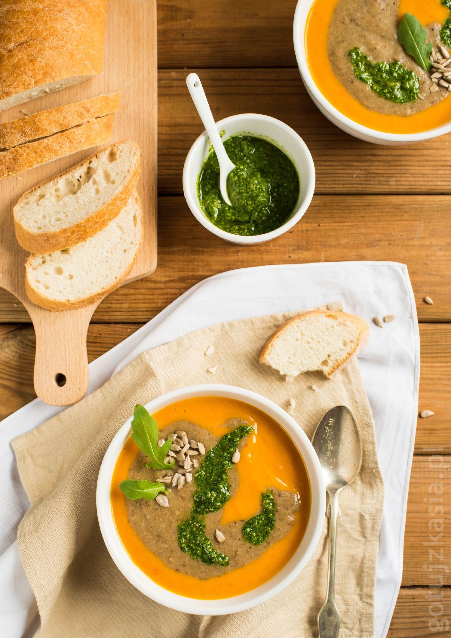 zupa dyniowo-grzybowa 1